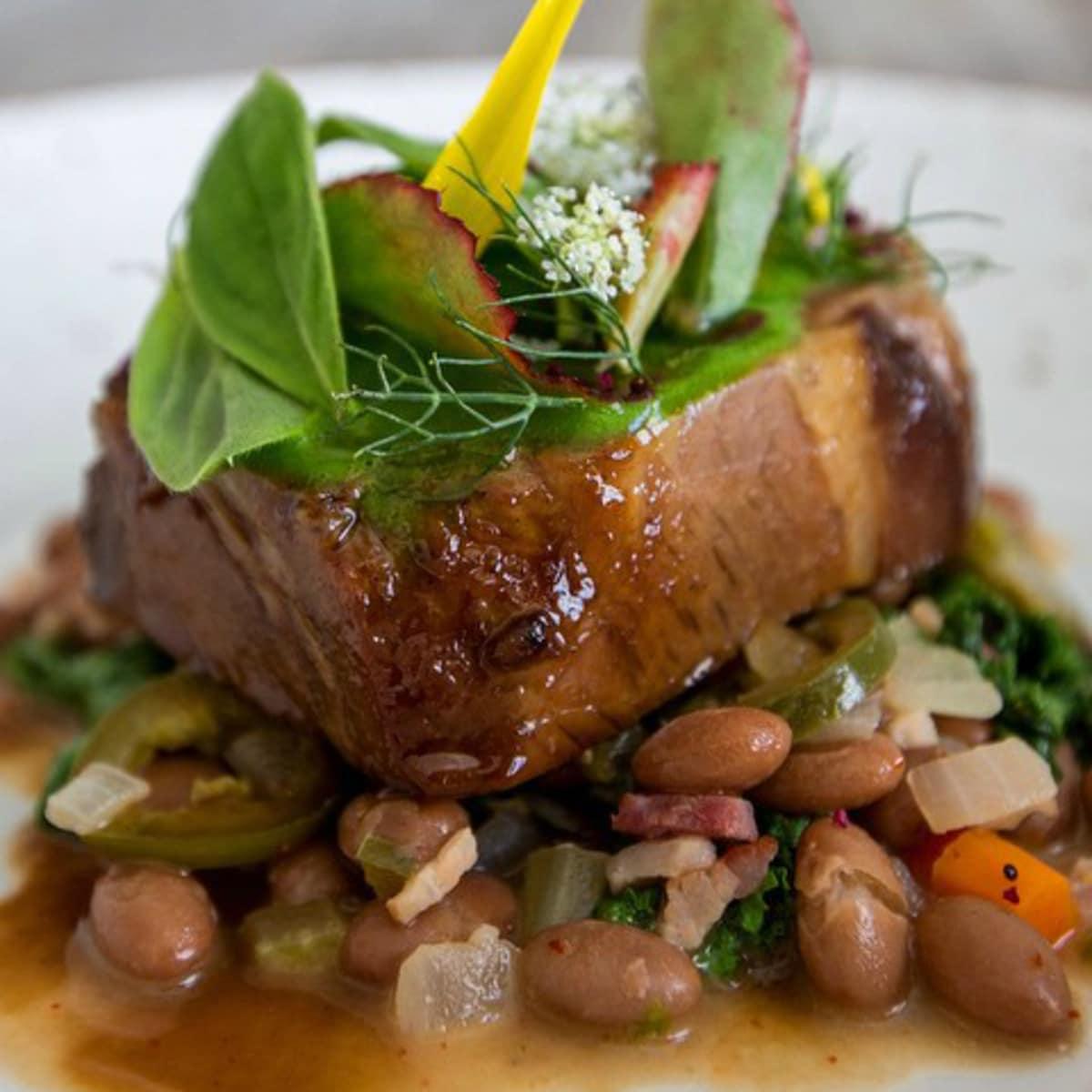 Fixe restaurant pork shoulder dish 2015