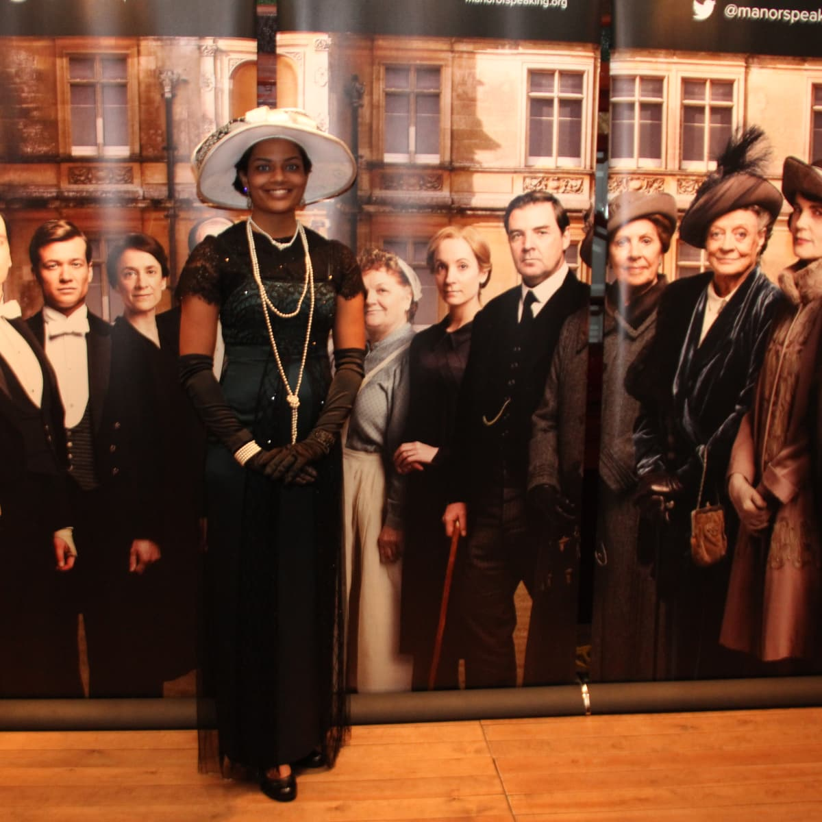 Sagirah Norris won first place for her Downton Abbey costume at sneak preview