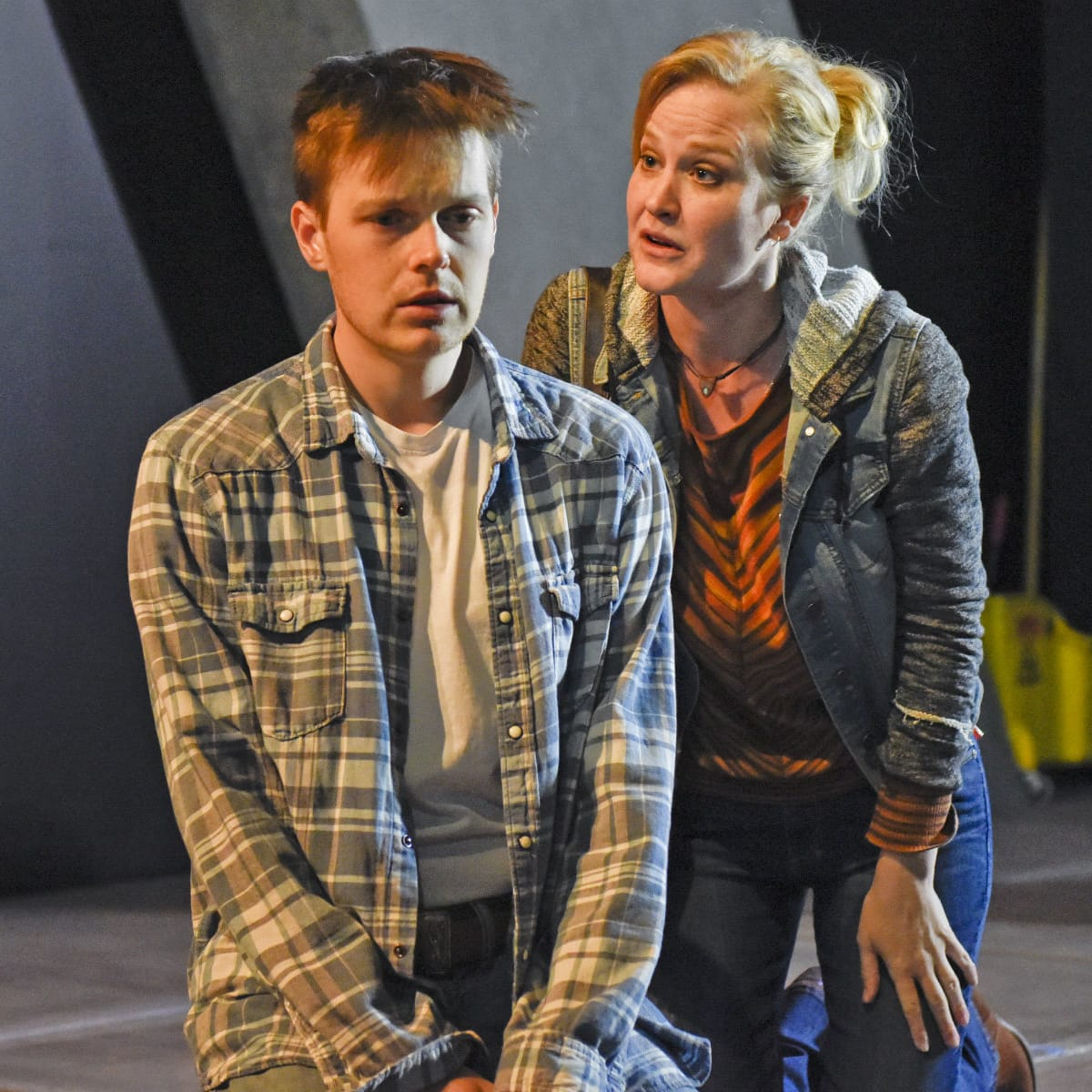 Sam Lilja and Heidi Armbruster in Dallas Theater Center's Clarkston