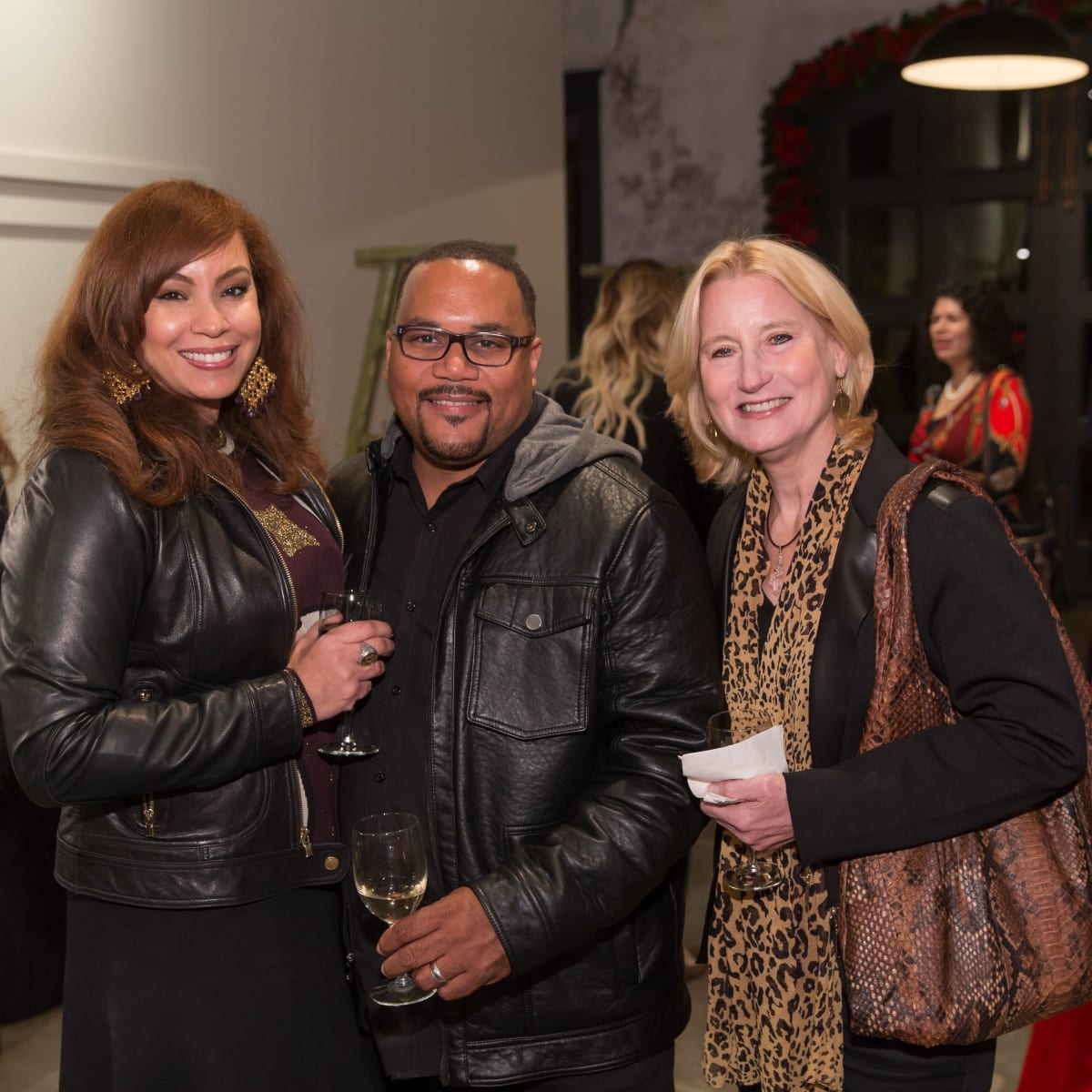 News, Lauren Spanjian party, Dec. 2015,  Ernest and Joanna Walker and Sylvia Pennywell.