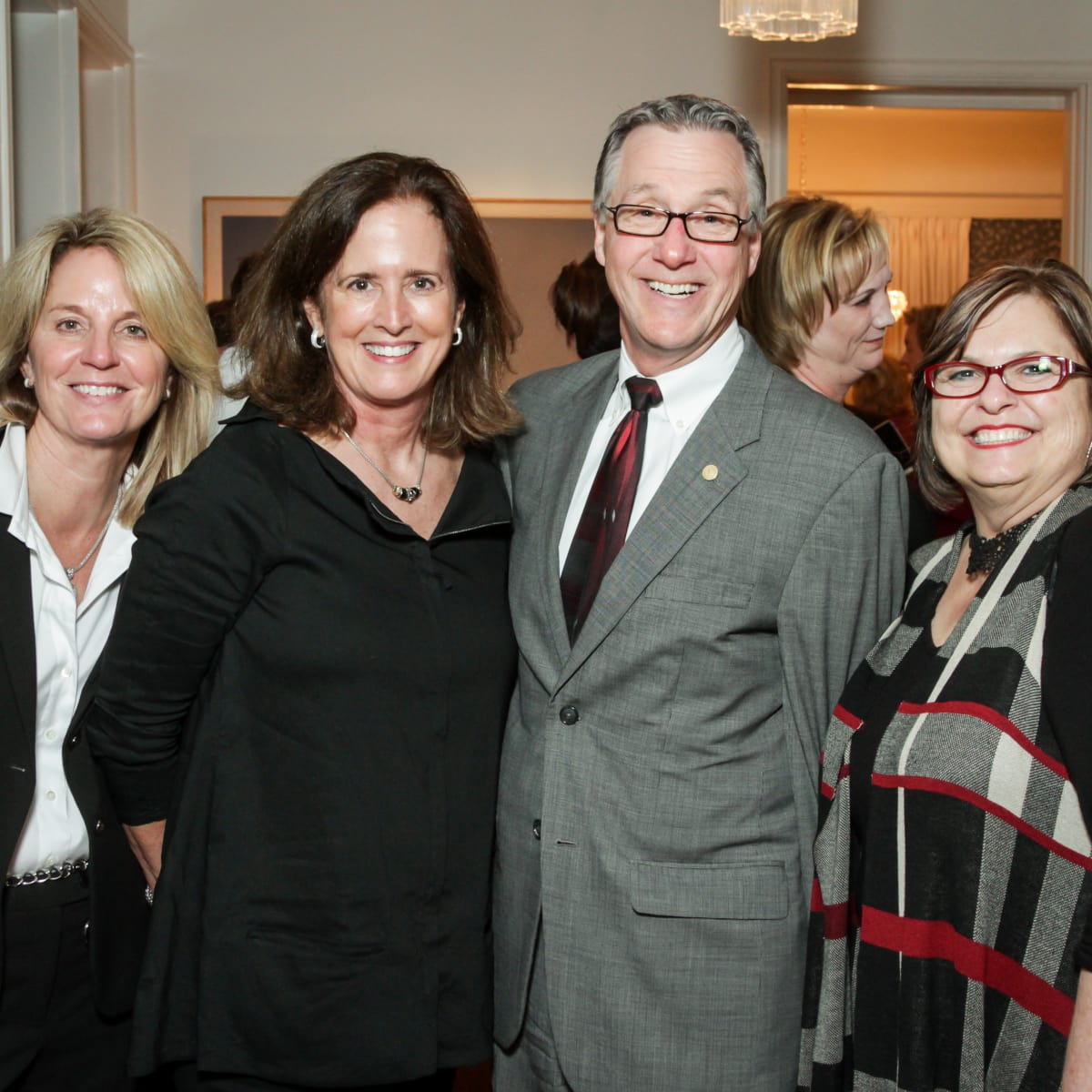 News, Legacy Holiday Schmooze, Dec. 2015, Lisa Bordelon, Cathy Porter, Steve Costello, Debbie Costello