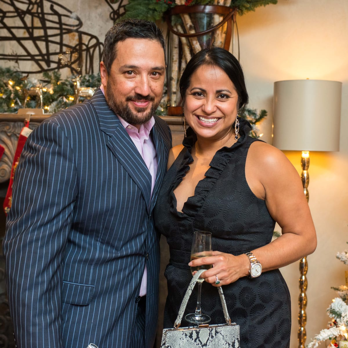 News, MD Anderson Santa's Elves, Dec. 2015, Rick DeToto, Jaime Reyna