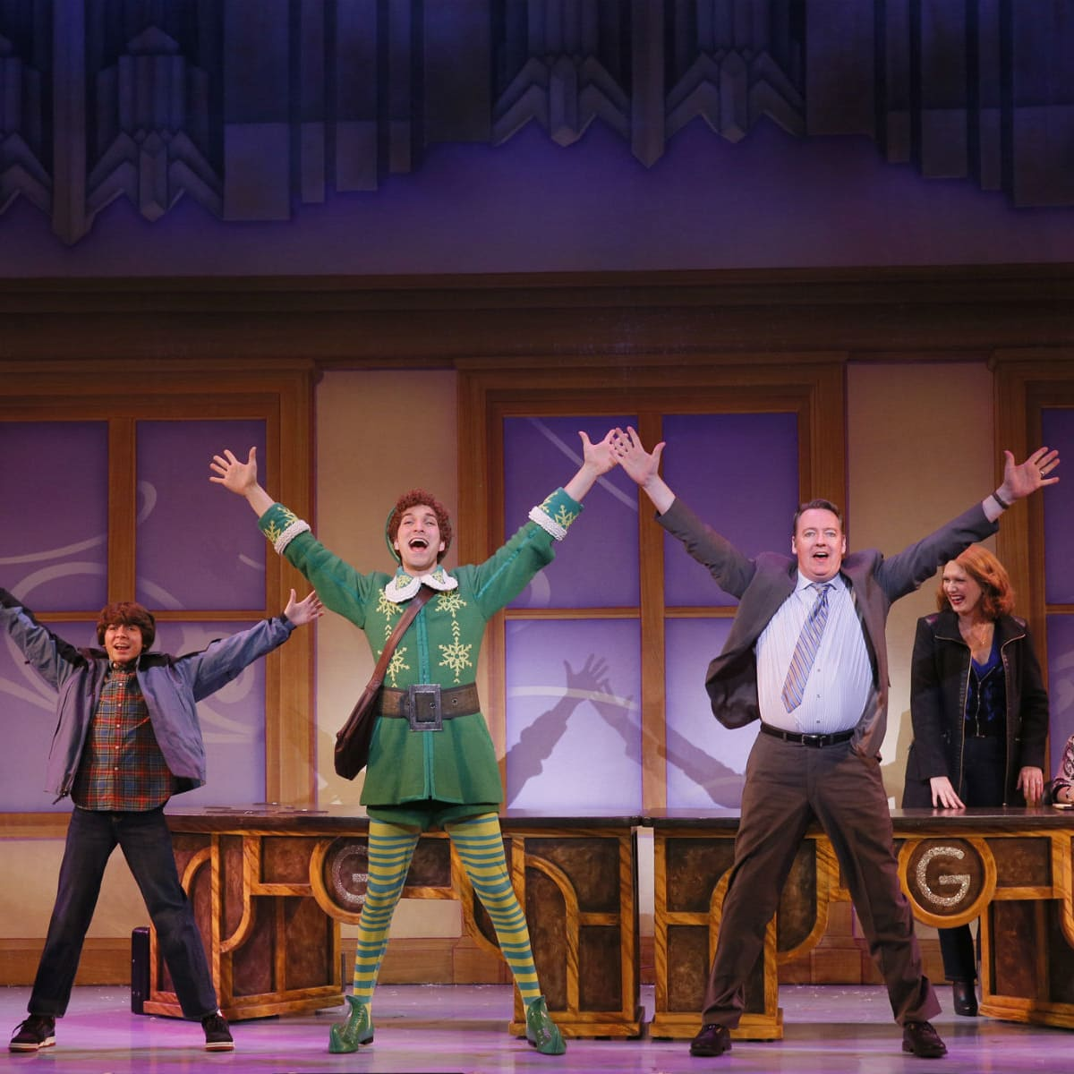 Cast of Elf the Musical