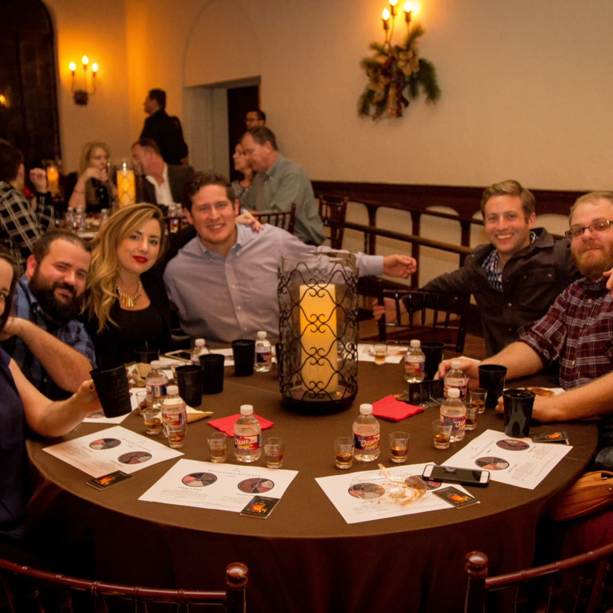 Woodford Reserve event Houston Cheryl Gibbs, Terry Williams, Stephanie Maxwell, Nick Talamantes, Patrick Naylon, Joseph Savana, Laura Schroeder