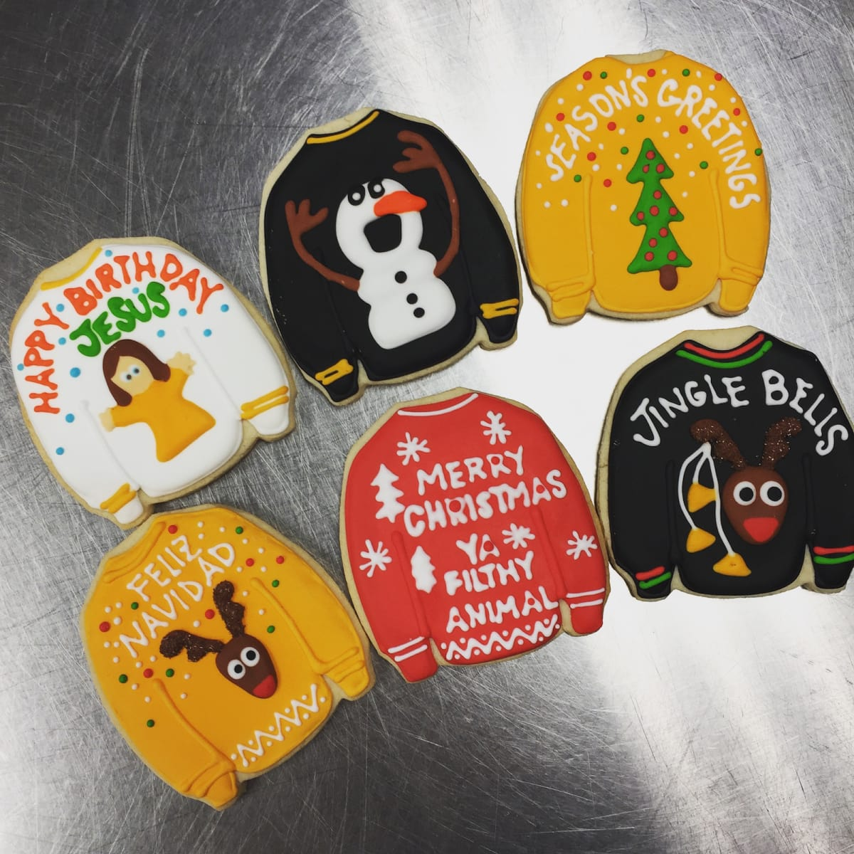 Fluff Bake Bar Ugly Sweater Christmas Cookies