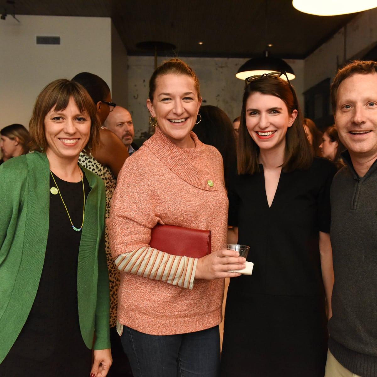 News, Pier & Beam party, Dec. 2015, Marisa Janusz, Rene Zamore, Elizabeth Marrin, Brett Zamore.