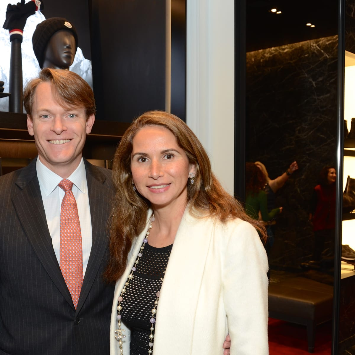 News, Moncler opening, Dec. 2015, Emerson and Cecilia Hankamer