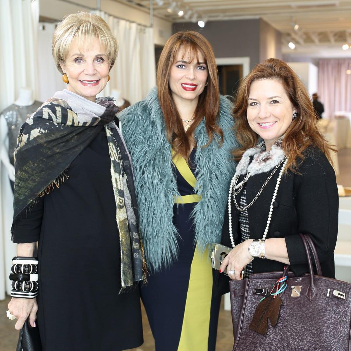 Leisa Holland Nelson, Karina Barberi, Donae Chramosta at Miles David fashion show
