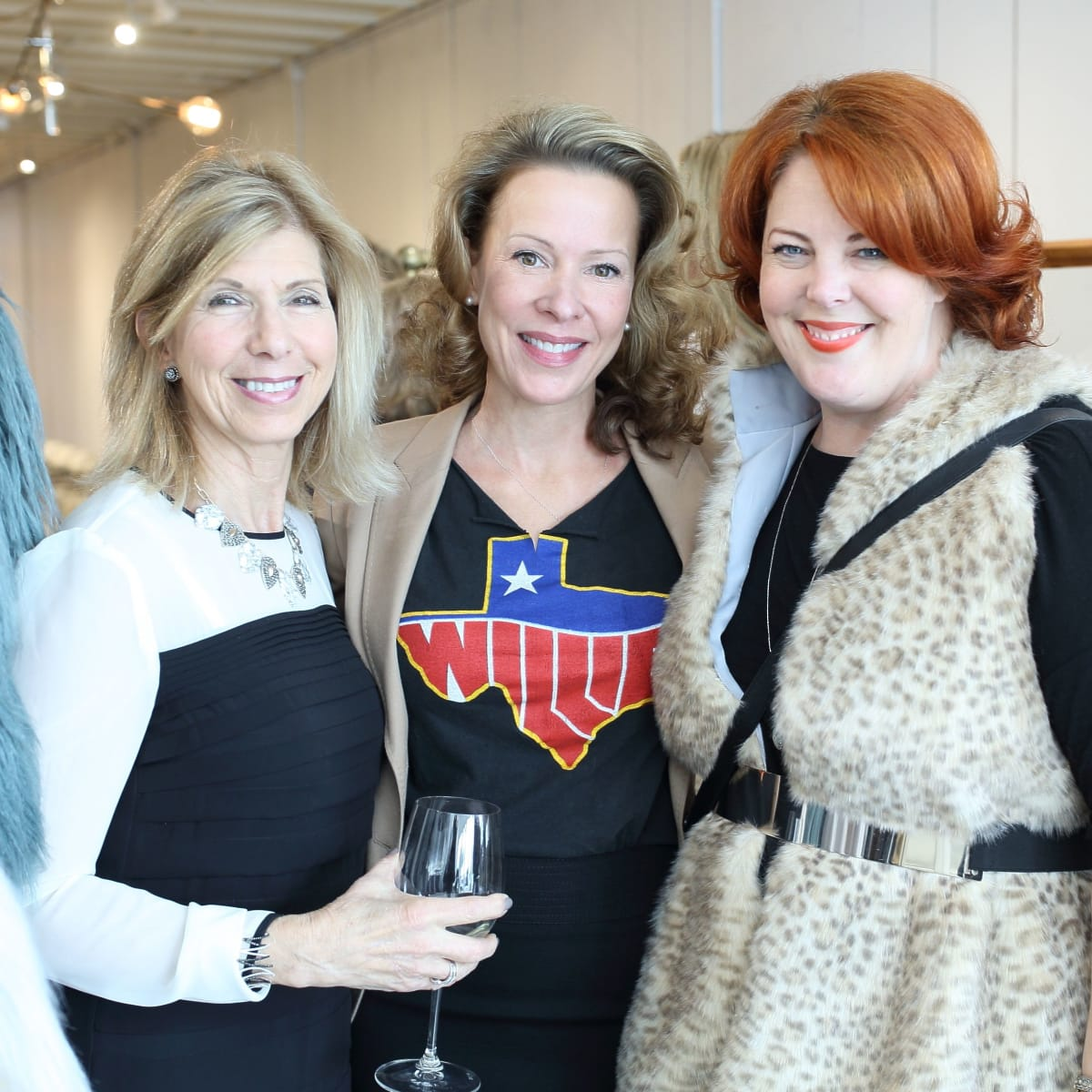 Terri Roth, Tammy Lahourcade Collins, Cara Crafton at Miles David fashion show