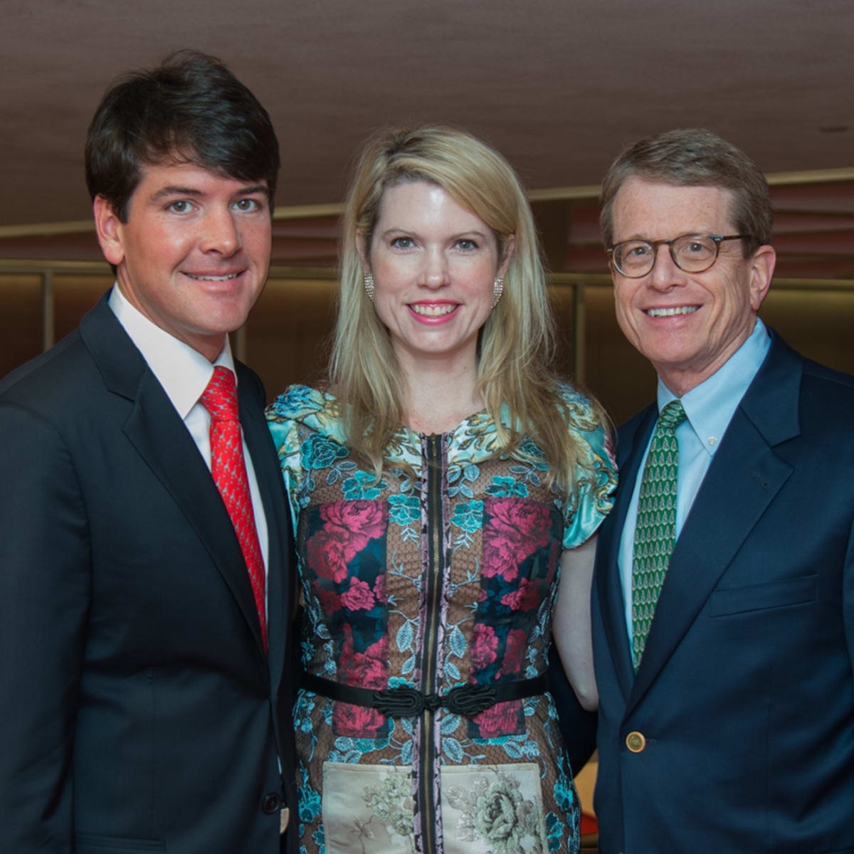 News, Alley Theatre Christmas Tree party, Nov. 2015, Bill Toomey, Courtney Toomey, Dean Gladden