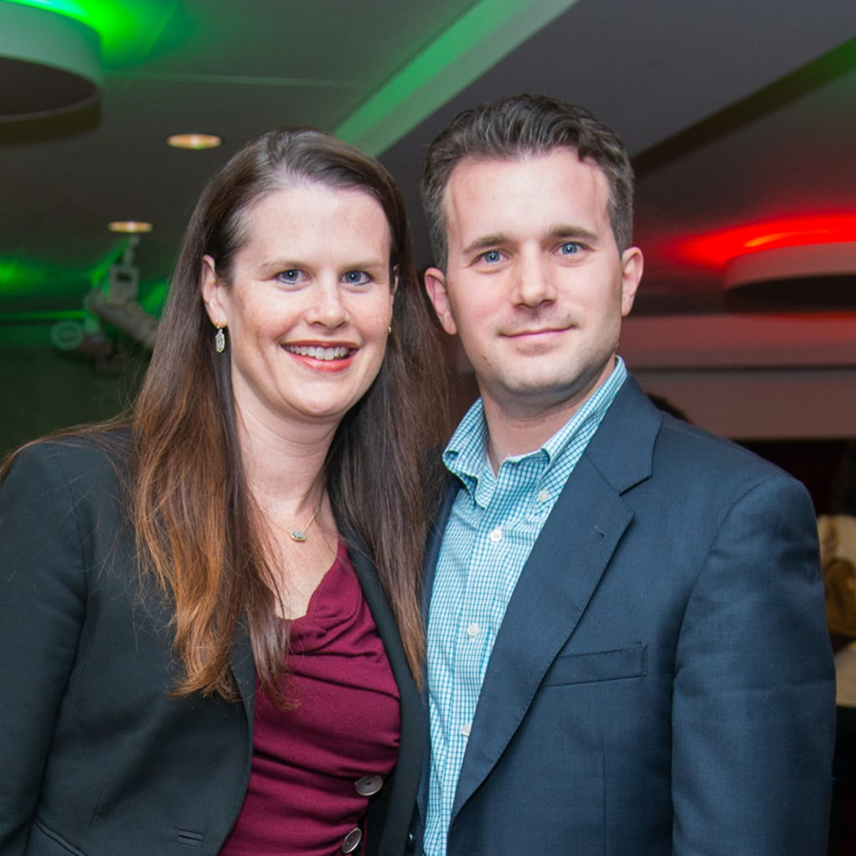 News, Alley Theatre Christmas Tree party, Nov. 2015, Shannon and Matt Cochrane