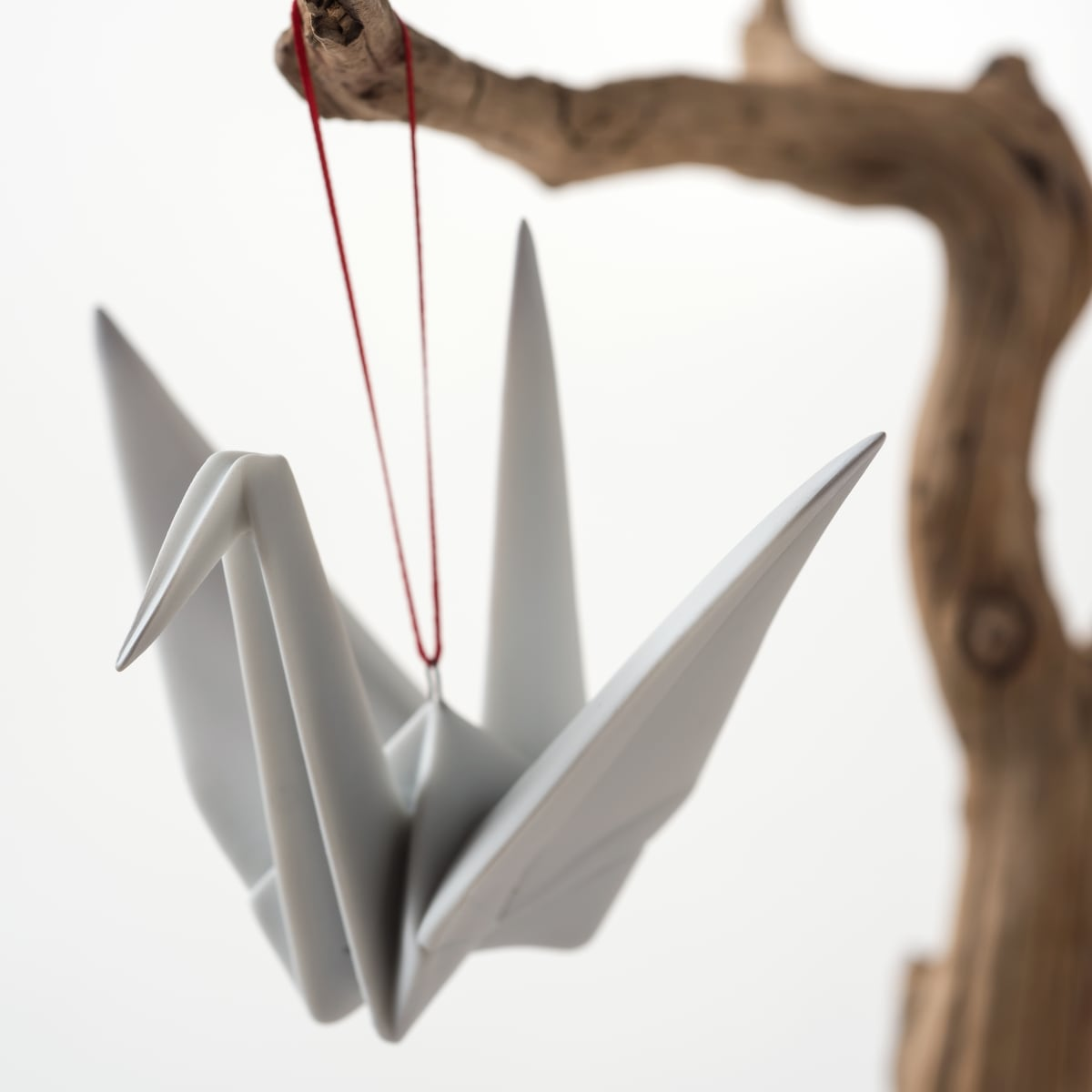 Porcelain crane origami ornament at the Lotus Shop