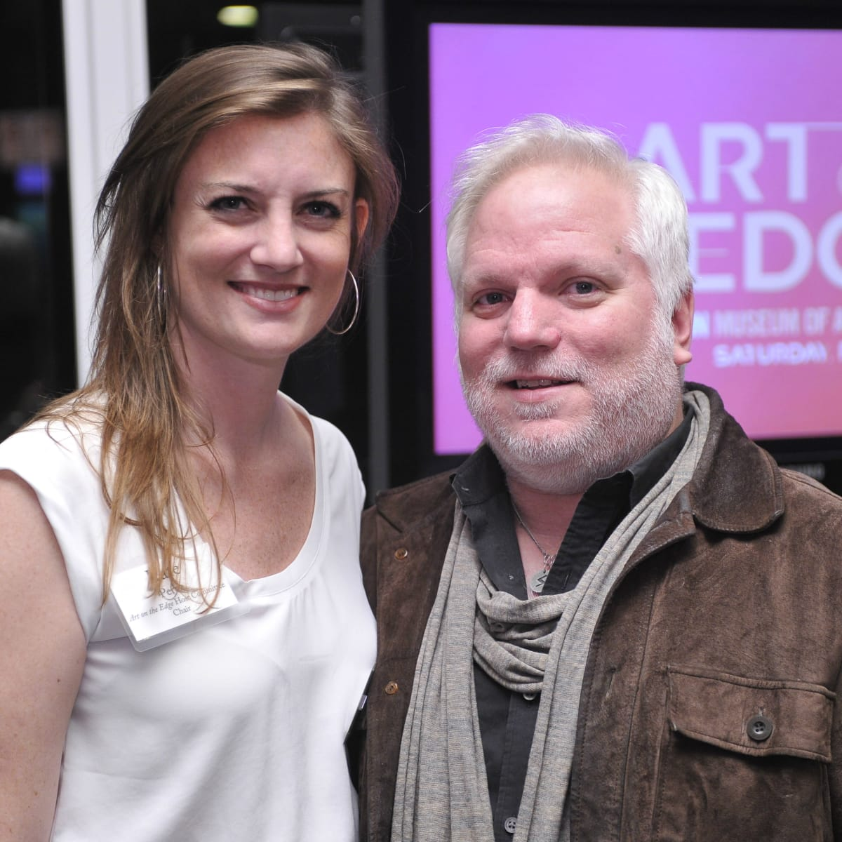 Blanton Museum Art on the Edge Kickoff Party November 2015 Kate Perez Kevin Smothers
