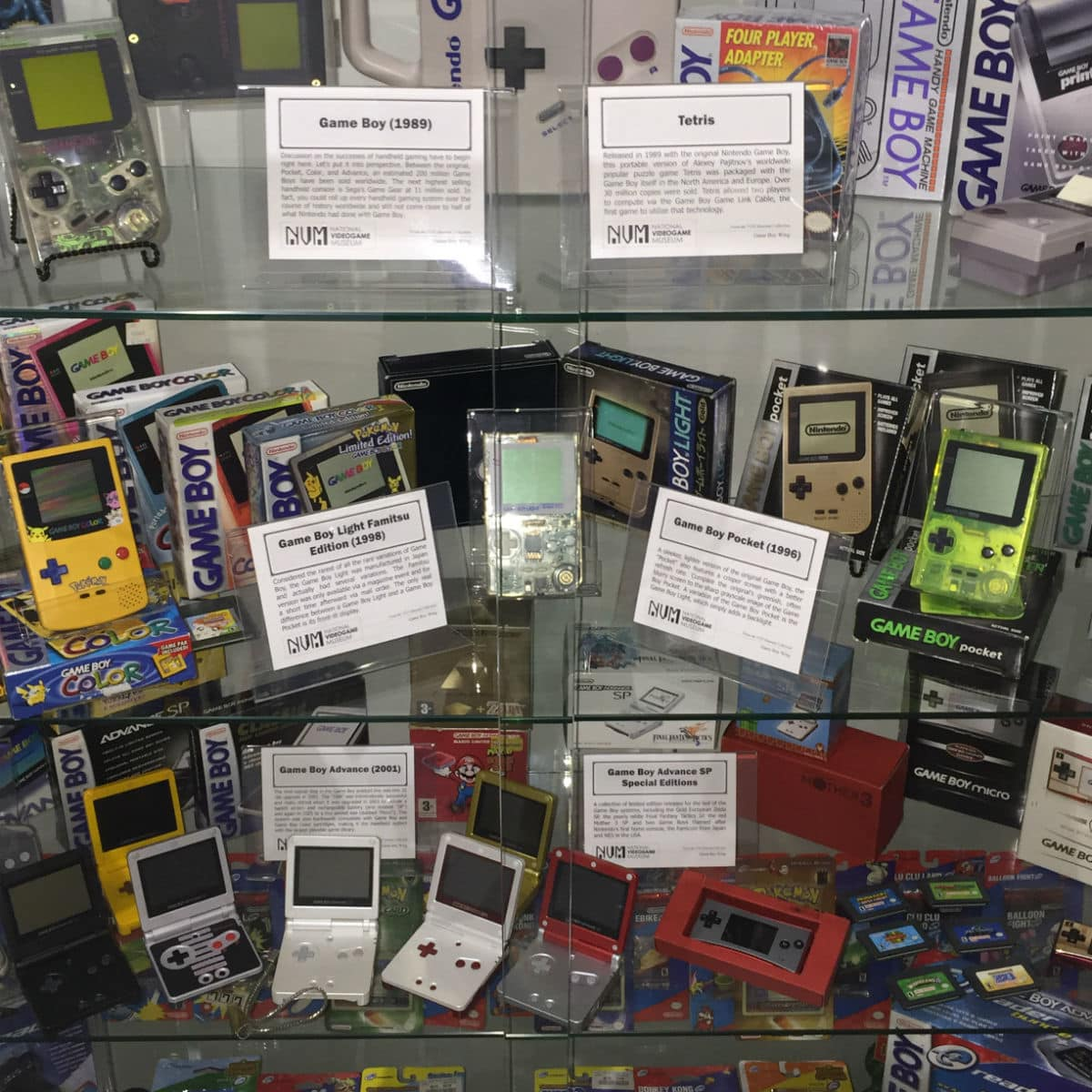 Display case at National Videogame Museum