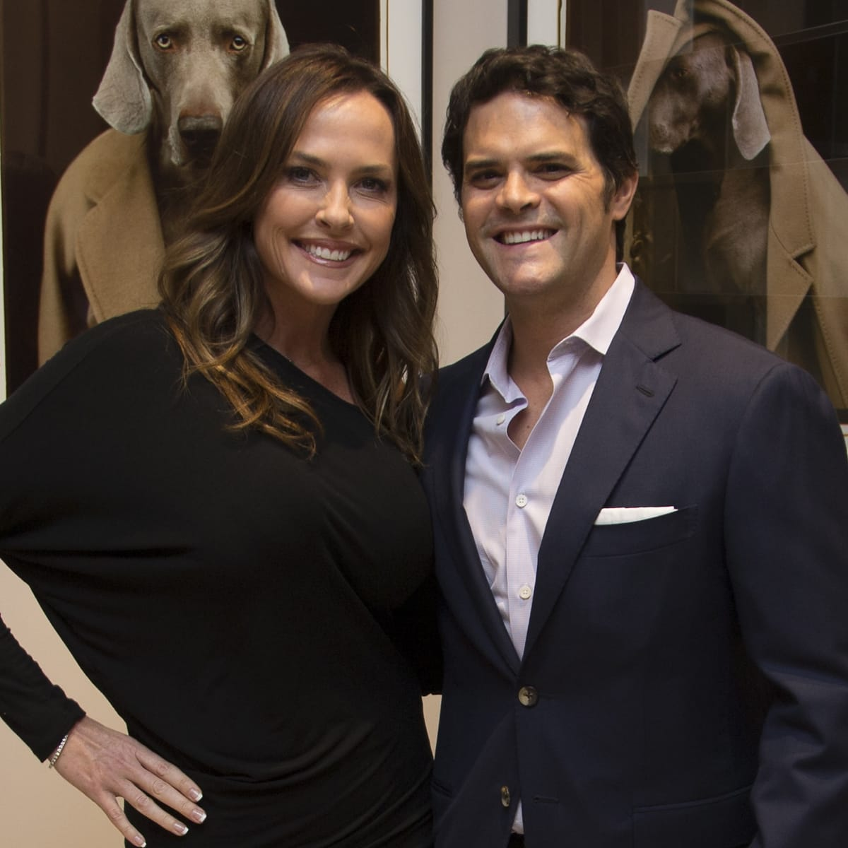 Max Mara William Wegman event Richelle Willis, Jeff Ball