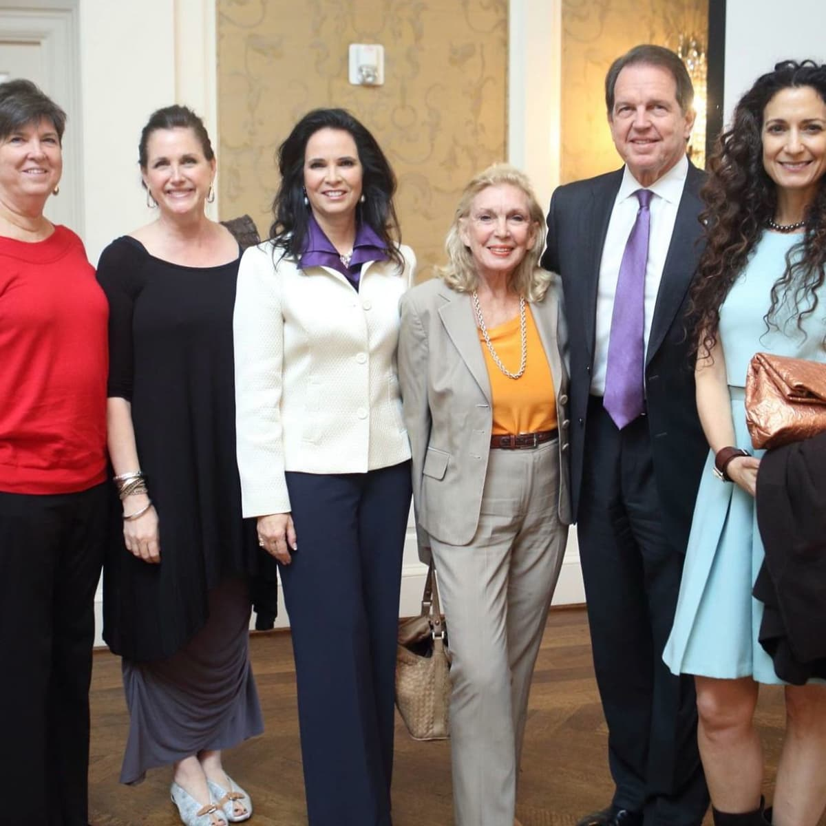 Patricia Ford, Lisa Wikson, Anita Wilson, Joanne Wilson, Welcome Wilson, Jr., Rene Flood at Alzheimer's Association AWARE Luncheon