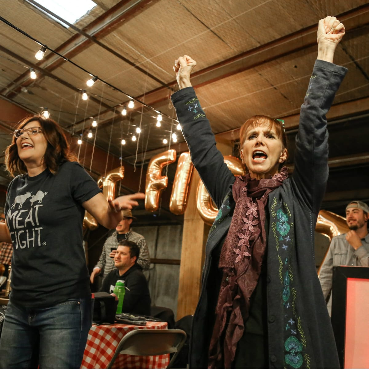 Alice Laussade and Nancy Nichols at Meat Fight 2015