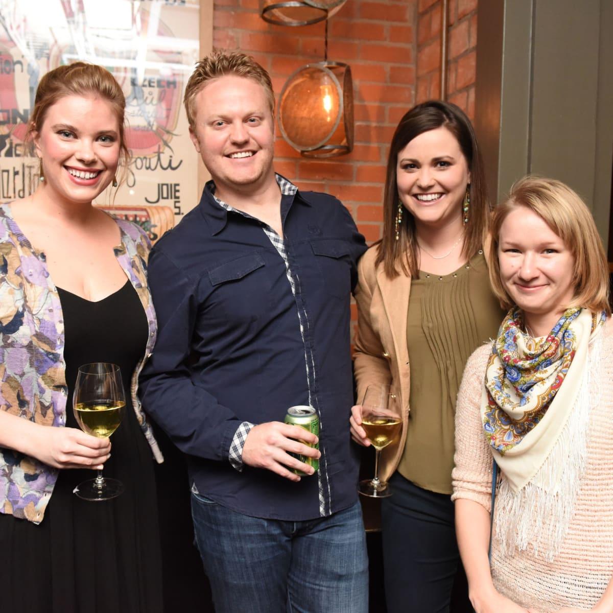 Urban Harvest dinner Allison Reeves, from left, Nick Deaville, Britni Deaville and Dasha Sklyarova