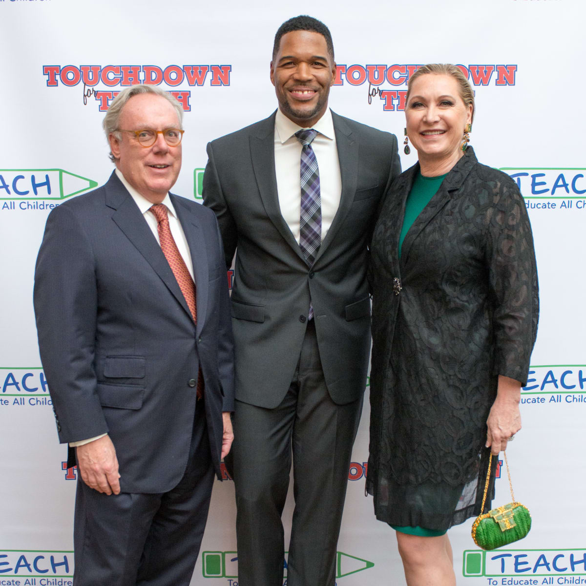 News, Shelby, TEACH dinner, NOv. 2015, Mike Linn, Michael Strahan, Carol Linn