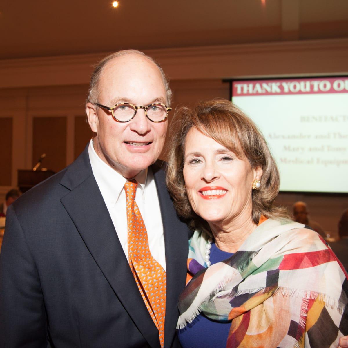 News, Shelby, Hospice Dinner, Oct. 2015, Peter Wareing, Elizabeth Wareing