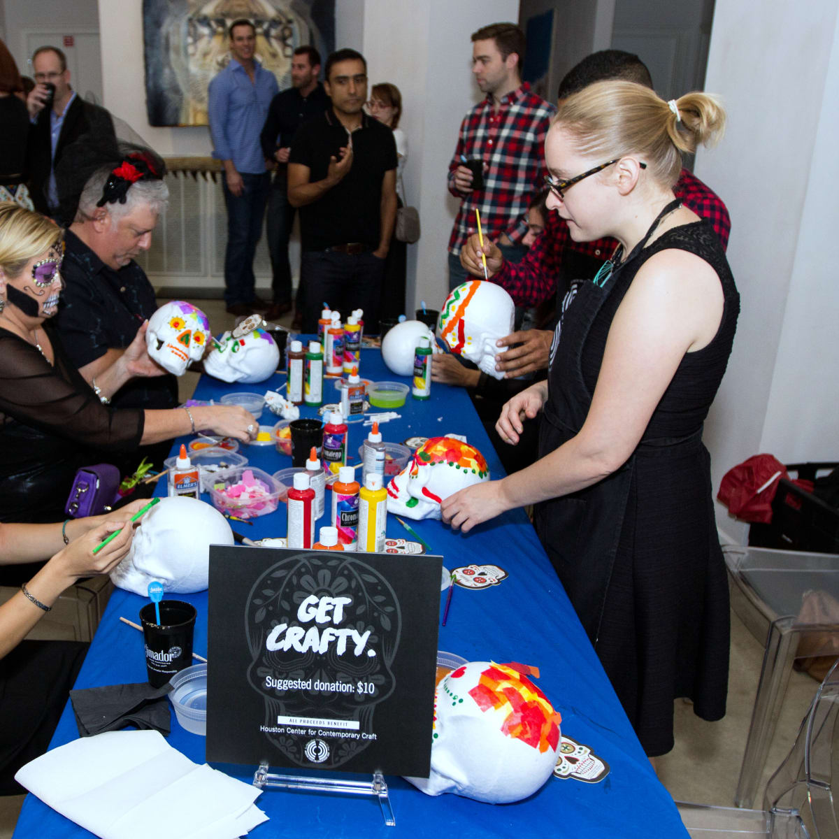 Houston, CultureMap Day of the Dead party, October 2015, craft station