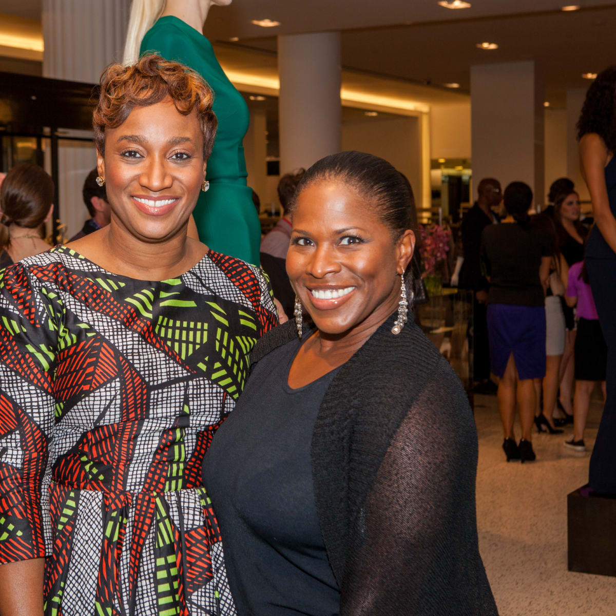 Andrea Bonner, Shandolyn Arline-Johnson at Heart of Fashion kickoff party