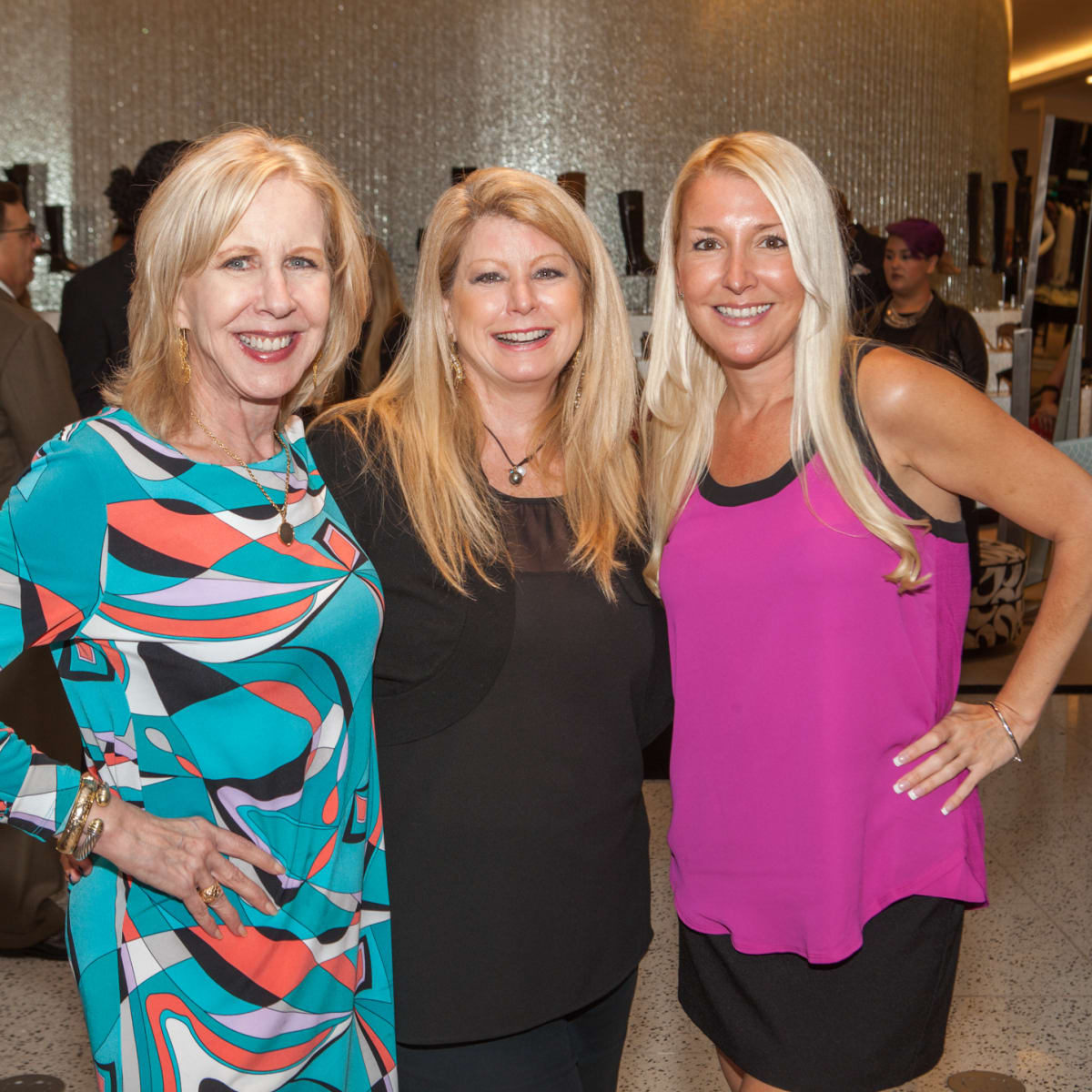 Beth Benson, Paula Lowe, Lisa Bunch at Heart of Fashion kickoff party