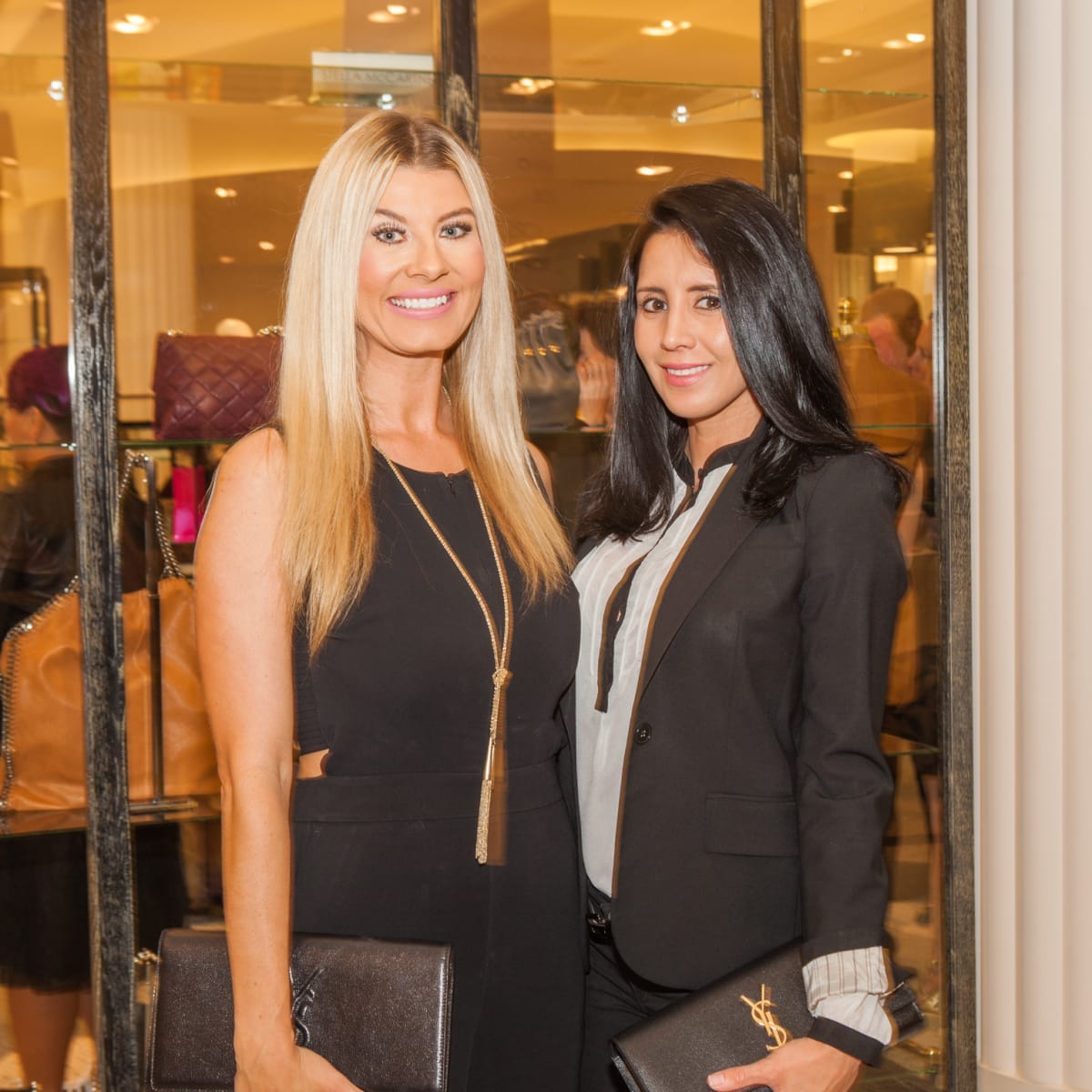 Erika Ballard, Marivel Hernandez at Heart of Fashion kickoff party