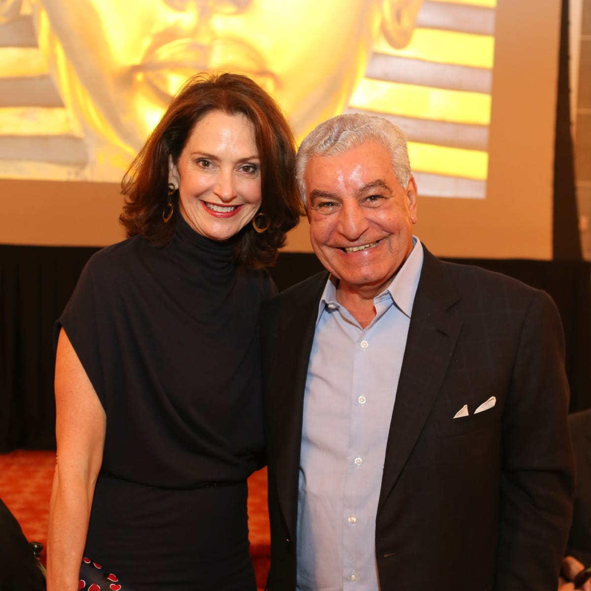 News, Shelby, Houston Museum of Natural Science Luncheon, Oct. 2015, Laurie Morian and Zahi Hawass