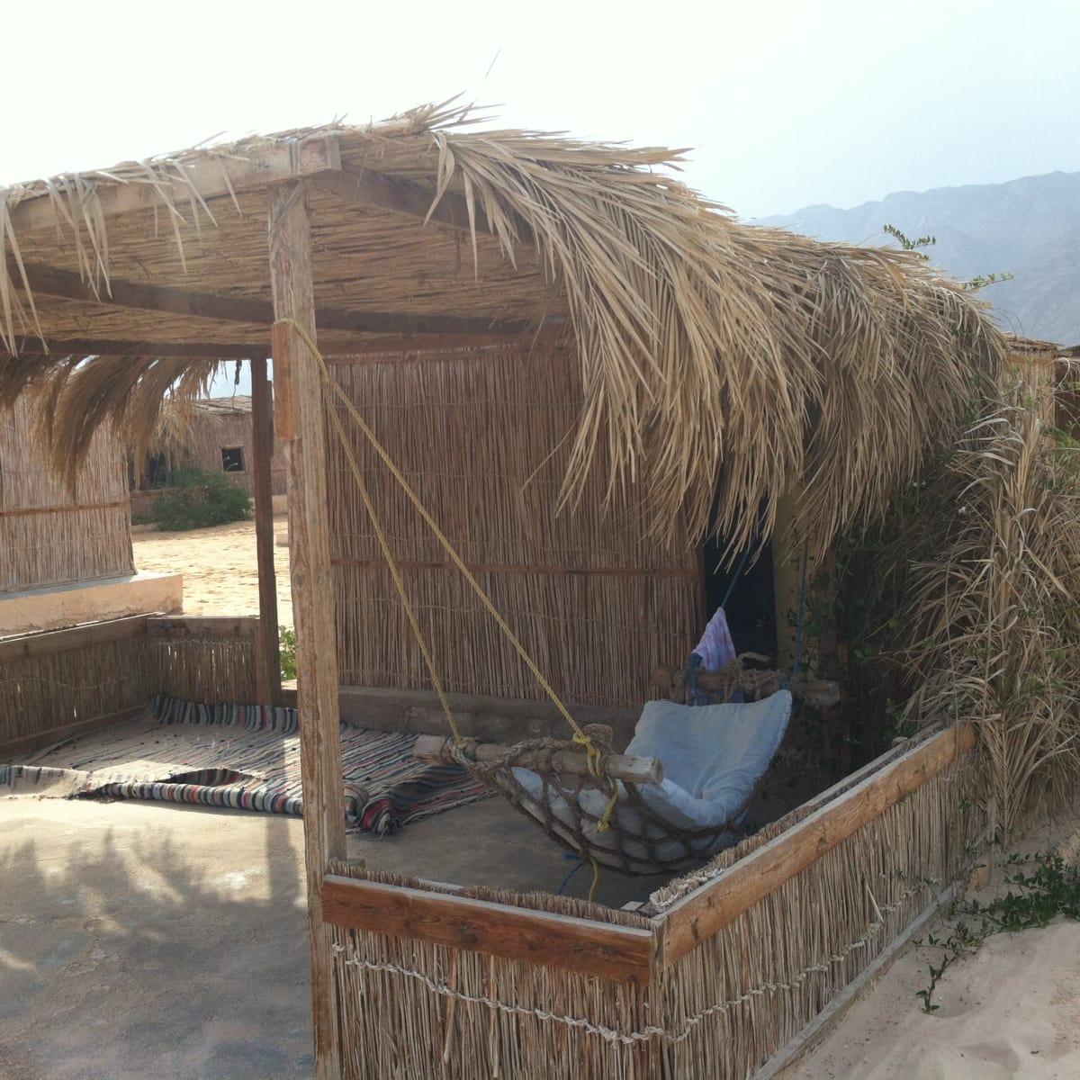 Rash Shitan Sinai Egypt hut with hammock