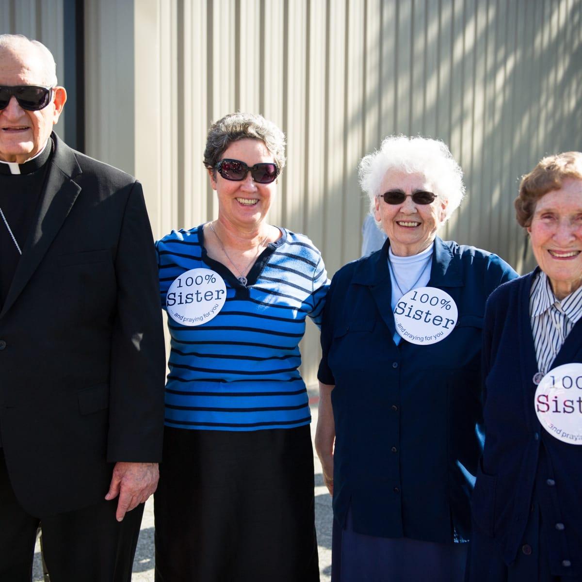 Christus Nun Run Archbishop Emeritus Joseph Fiorenza, Sister Kevina Keating and Sisters of Charity of the Incarnate Word