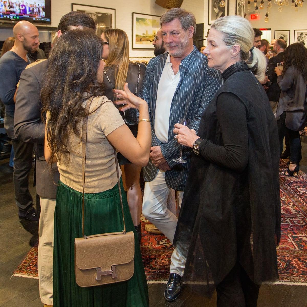Neal Hamil and Holly Moore at John Varvatos book signing