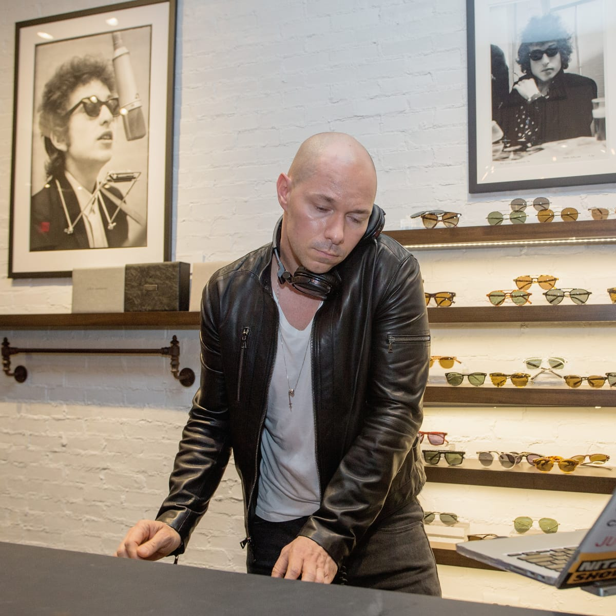DJ at John Varvatos book signing