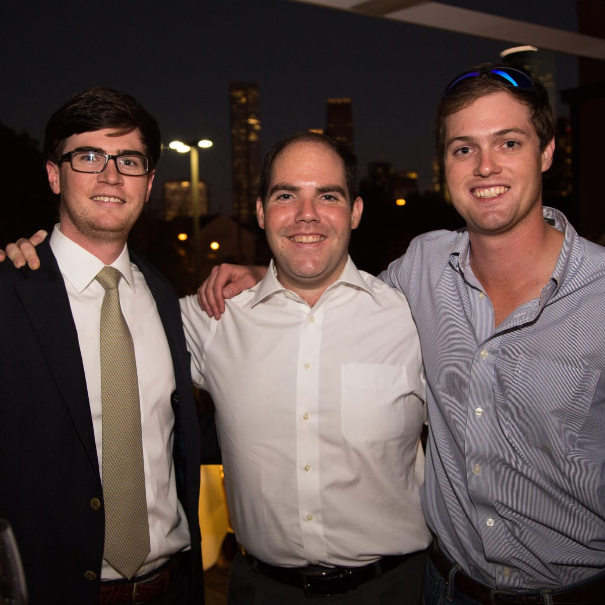 B&B Butchers terrace party  James Moreton, Jon Sanfelippo and Joseph Doyle