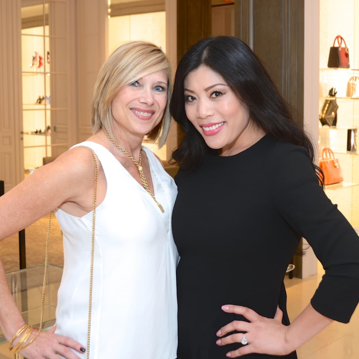 Dior grand opening Leslie Ezell, Mia Yu