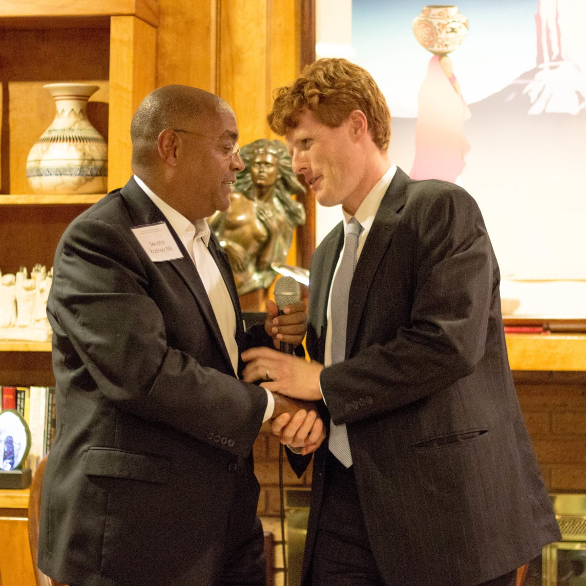 Rodney Ellis and Joe Kennedy III at Texas Civil Right Project fundraiser