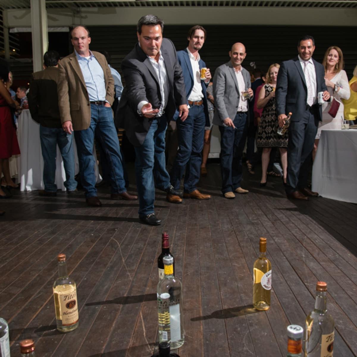 NCMEC Texas Heroes for Children Gala 2015 liquor bottle ring toss