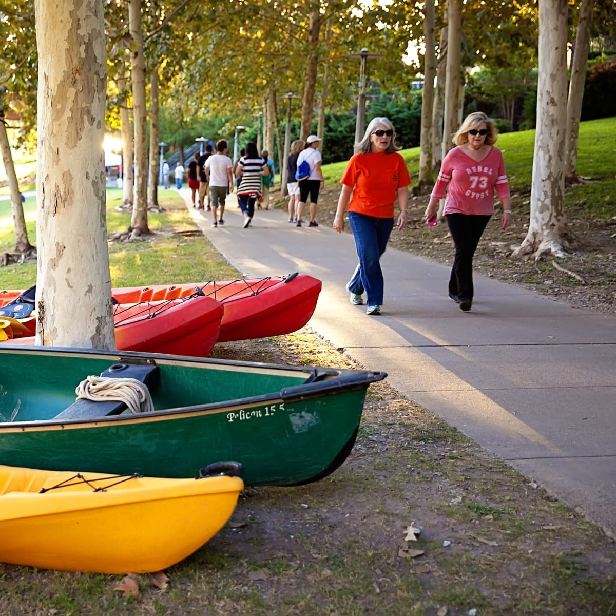 News, Shelby, Buffalo Bayou Park opening, Oct. 2015, canoes