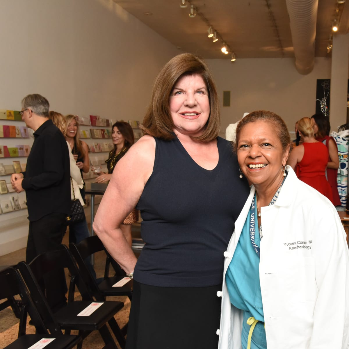 Julia Frankel and Yvonne Cormier at Recipe for Success Dress for Dinner event