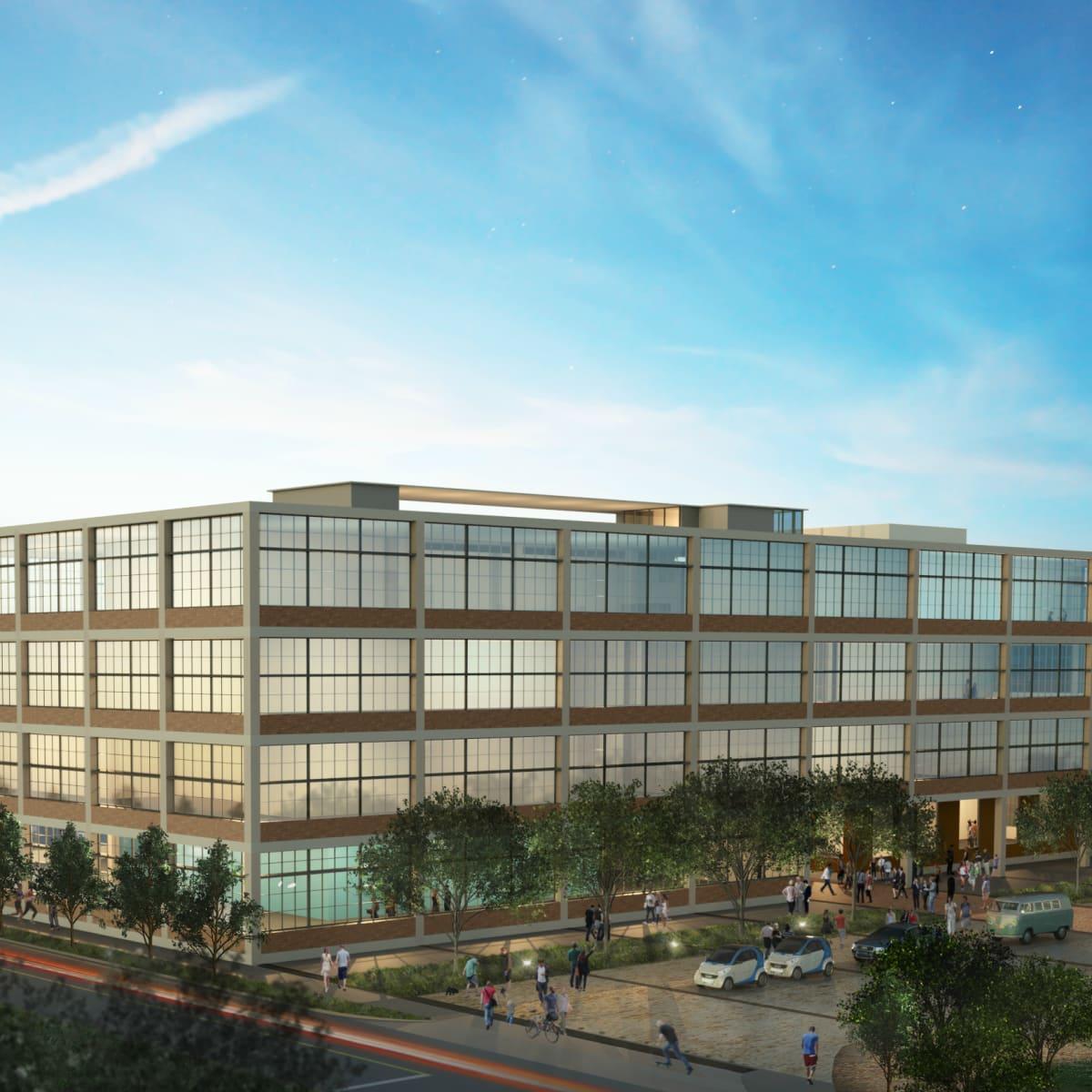 Saint Elmo Public Market rendering South Austin office building 2015