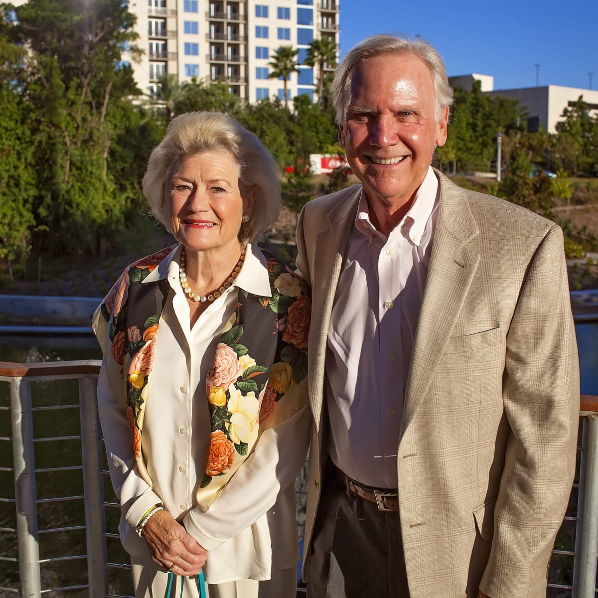 News, Shelby, Lost Lake, Dunlavy party, Sept. 2015 Betsy and Bob Phillips