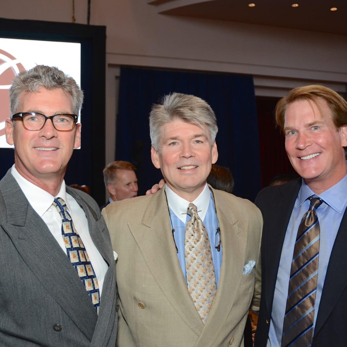 News, shelby, Legacy luncheon, Sept. 2015, Tom LeCloux, Dr. Steve Hamilton, George Lancaster