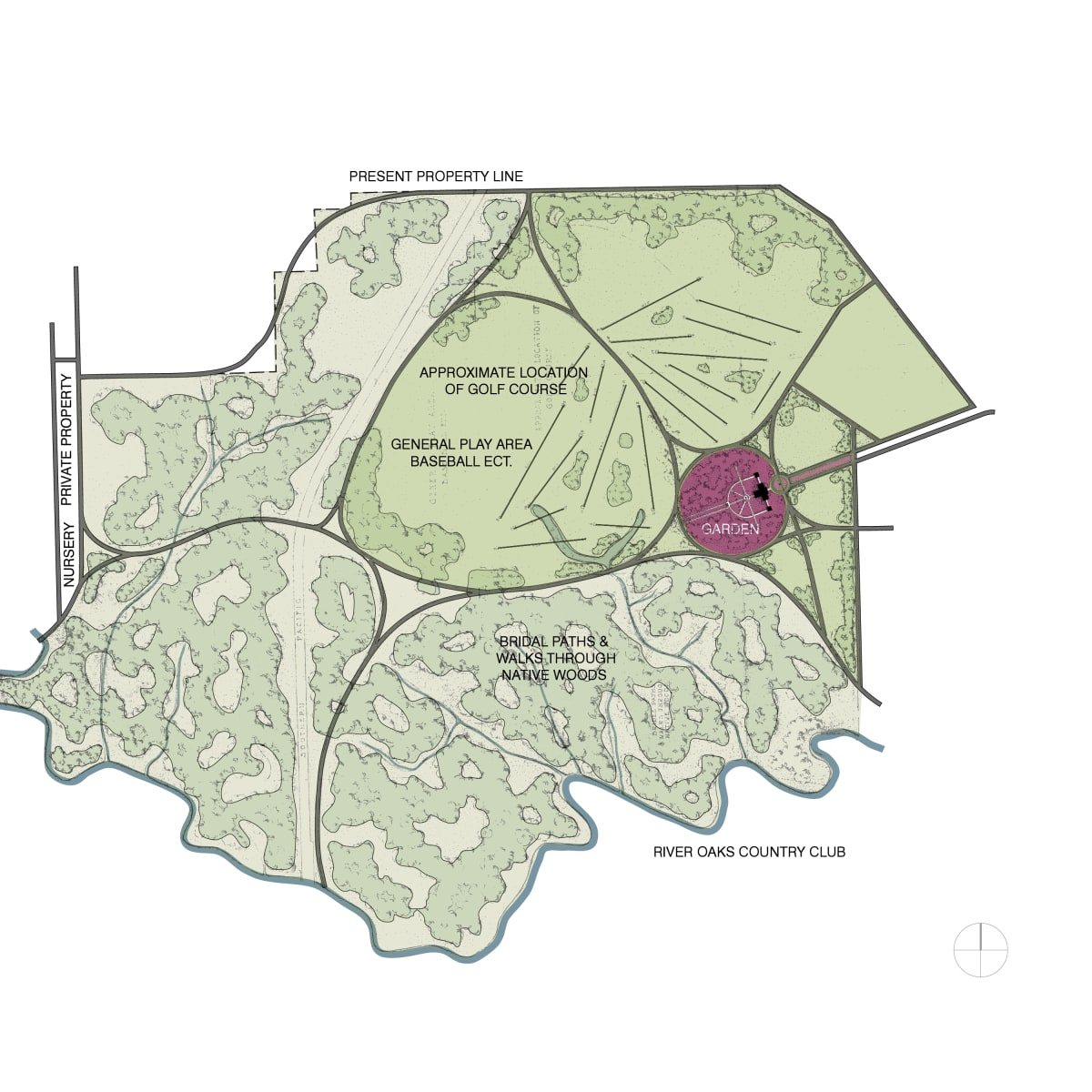 Memorial Park Master Plan map Hare & Hare