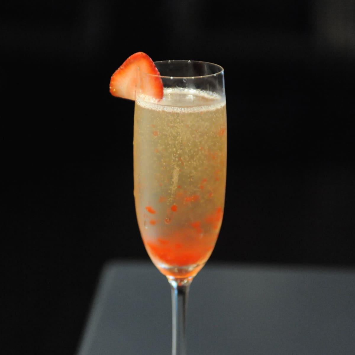 Tarakaan champagne cocktail