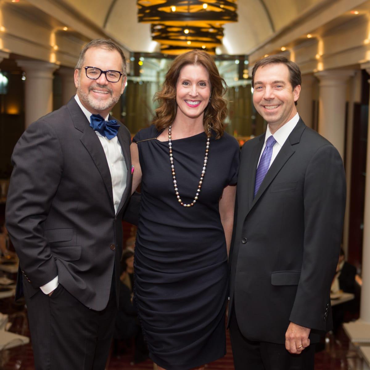 News, Shelby, Wortham Center Founder's Salon, Sept. 2015, Todd Fiscus, Phoebe Tudor, Jim Nelson