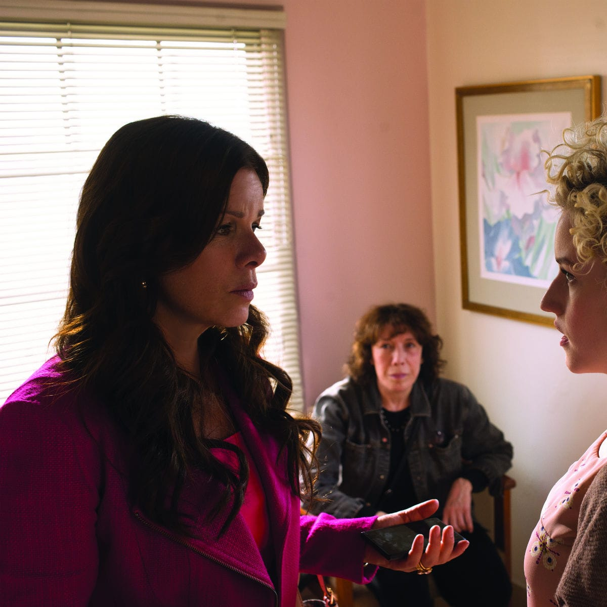 Marcia Gay Harden, Lily Tomlin and Julia Garner in Grandma