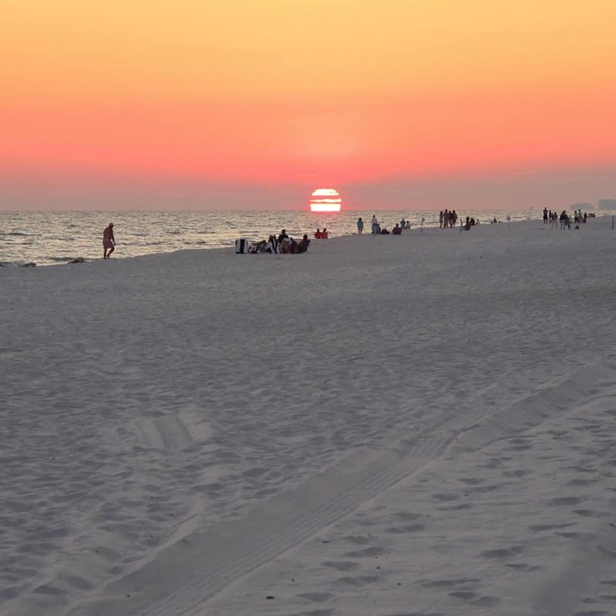 Seaside Florida beach at sunset