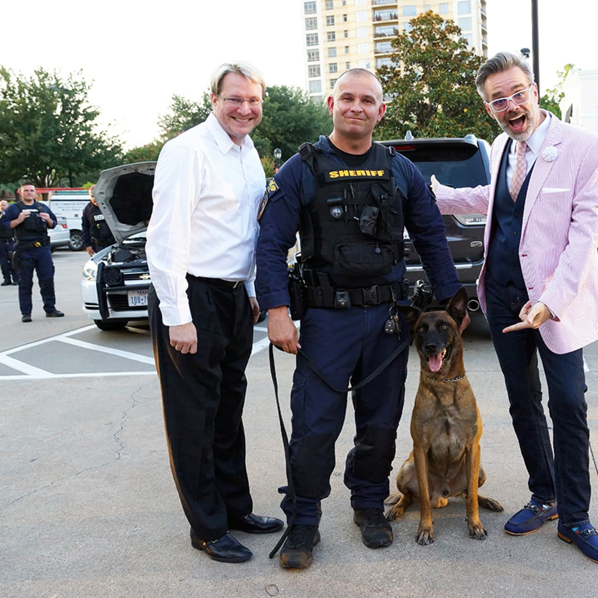 Houston, Unleashed K9's for Cops Kickoff Party, August 2015, Matt Burrus, Chris Moore, Michael Pearce