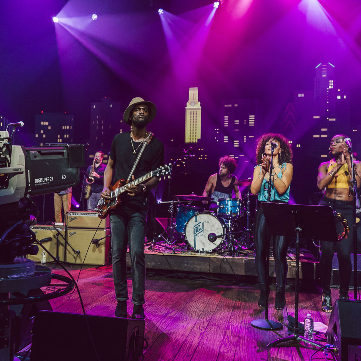 Gary Clark Jr camera set Austin City Limits taping ACL TV episode 2015