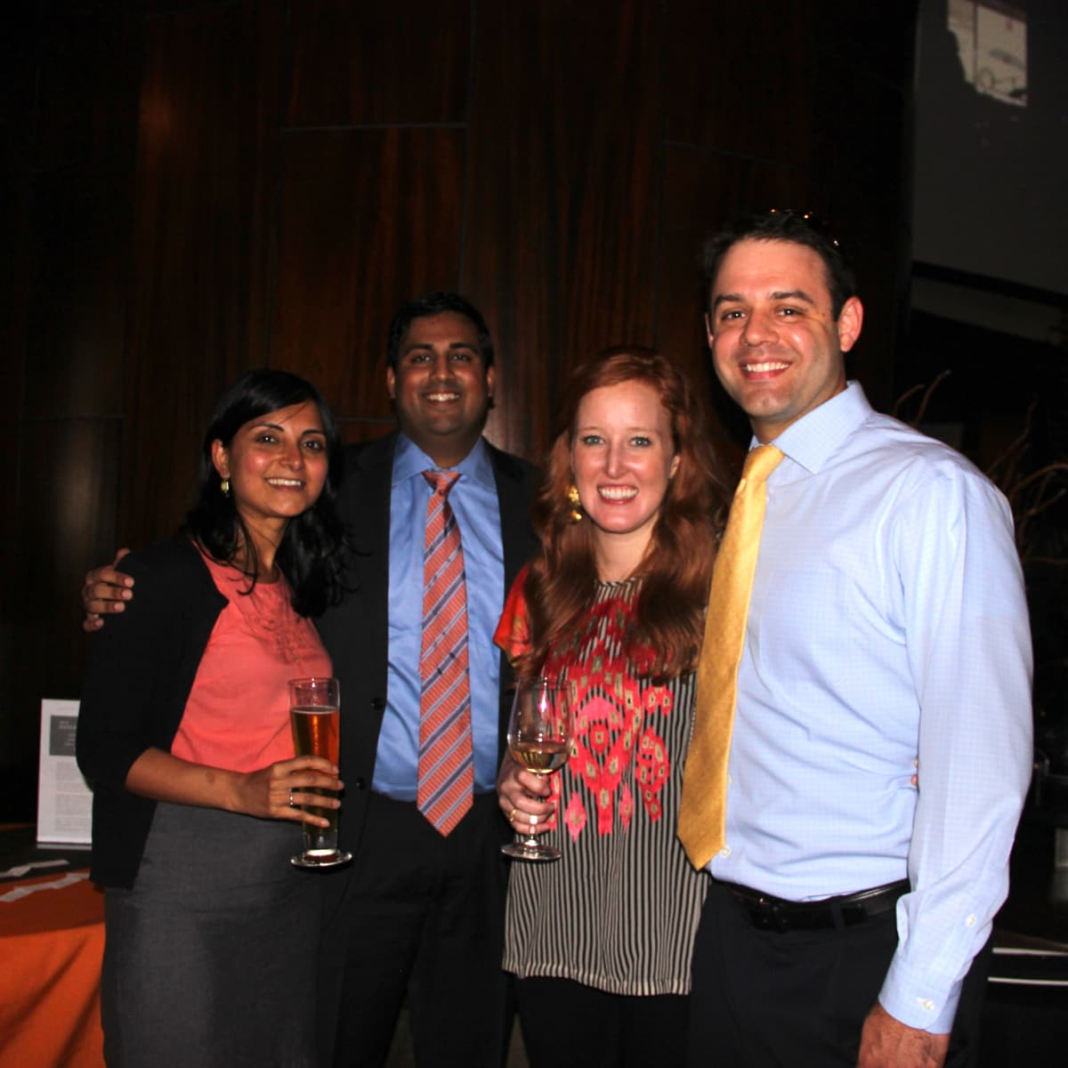 Houston, Friends of Depelchin Back to School Happy Hour, August 2015, Aditi Nayar, Rishabh Godha, Amy Hargis, David Hargis